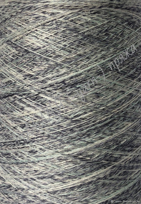 Пряжа Шелк Лён меринос Libeccio imprime молочный-темно-синий – купить на Ярмарке Мастеров – ICR75RU | Пряжа, Санкт-Петербург