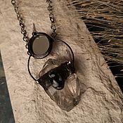 Украшения handmade. Livemaster - original item Crystal Pendant with snow Obsidian (p-089). Handmade.
