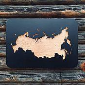 Сувениры и подарки handmade. Livemaster - original item Map of Russia with illumination M. Handmade.