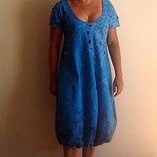 Одежда ручной работы. Ярмарка Мастеров - ручная работа Валяное платье «Лазурная глубь». Handmade.