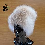 Аксессуары handmade. Livemaster - original item Vip hat women`s fur on a knitted base fur shadow frost.. Handmade.