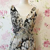 Одежда ручной работы. Ярмарка Мастеров - ручная работа %Платье из батиста и крепдешина. Handmade.