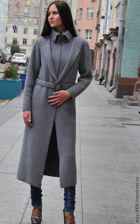 Пиджаки, жакеты ручной работы. Ярмарка Мастеров - ручная работа. Купить Пальто-кардиган. Handmade. Серый, вязанное пальто