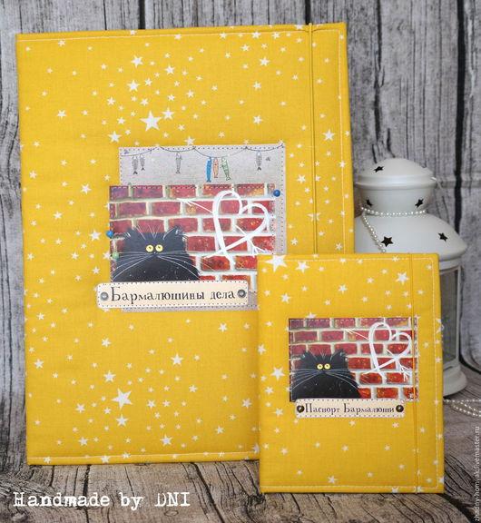Обложка для ветеринарной книжки и папка для документов с держателем Мастер - Handmade by DNI Магазин  - Жадный хомяк