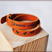 Украшения ручной работы. Ярмарка Мастеров - ручная работа Браслет кожа с гравировкой, кожаный браслет, браслет кожаный. Handmade.
