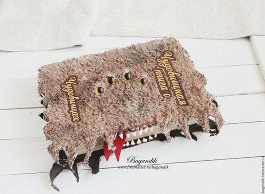 """Блокноты ручной работы. Ярмарка Мастеров - ручная работа. Купить """"Чудовищная книга о чудовищах"""" по мотивам фильма о Гарри Поттере. Handmade."""