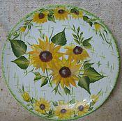 """Посуда ручной работы. Ярмарка Мастеров - ручная работа Тарелка """"Подсолнухи"""". Handmade."""