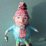 """Подарки к праздникам ручной работы. Ярмарка Мастеров - ручная работа ёлочная игрушка """"гном с фонарём"""". Handmade."""