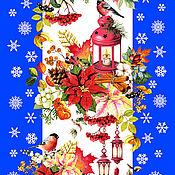 Ткани ручной работы. Ярмарка Мастеров - ручная работа Ткань: Новогодняя ткань вафельное полотно 100% хлопок для шитья. Handmade.