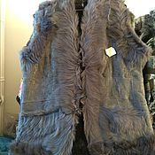 Одежда ручной работы. Ярмарка Мастеров - ручная работа Жилет из тосканской овчины 50. Handmade.