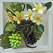 Картины и панно ручной работы. Ярмарка Мастеров - ручная работа Панно с виноградом. Handmade.