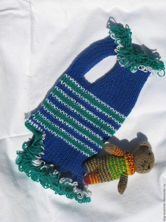 Одежда для собак, ручной работы. Ярмарка Мастеров - ручная работа. Купить жилет - лапша. Handmade. Комбинированный, одежда для собак, в полоску