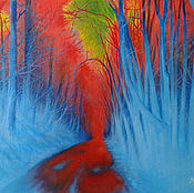 Картины и панно handmade. Livemaster - original item Road in the forest. Handmade.