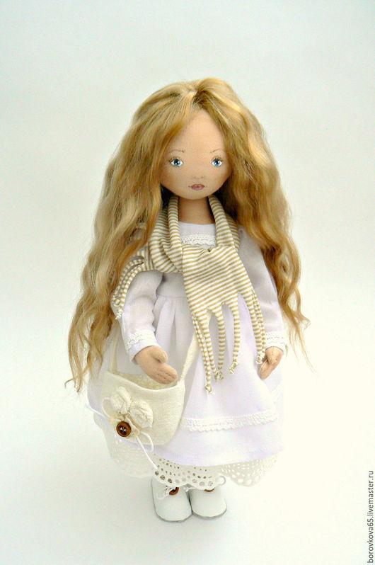 Коллекционные куклы ручной работы. Ярмарка Мастеров - ручная работа. Купить Николь Кукла интерьерная текстильная белый подарок. Handmade.