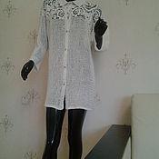 Одежда ручной работы. Ярмарка Мастеров - ручная работа Вязаная рубашка унисекс Лето. Handmade.