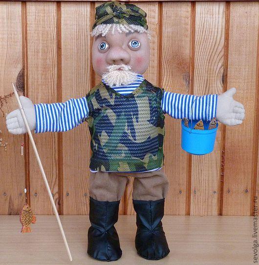 Человечки ручной работы. Ярмарка Мастеров - ручная работа. Купить Кукла Рыбак (Во-о-от така-а-ая сорвалась!!!). Handmade.