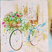 Картины и панно handmade. Livemaster - original item Your delicate Provence - painting watercolor. Handmade.