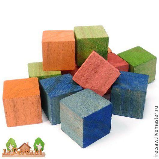 Развивающие игрушки ручной работы. Ярмарка Мастеров - ручная работа. Купить Деревянные кубики цветные. Handmade. Кубики, биофа, Башня