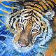 Животные ручной работы. Амурский тигр. Алёна Ручка (alru). Интернет-магазин Ярмарка Мастеров. Зима, акрил, акрил