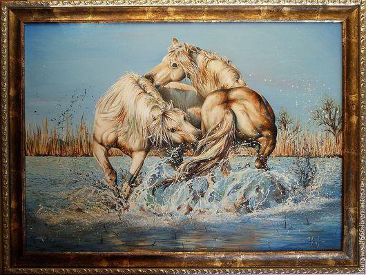 """Животные ручной работы. Ярмарка Мастеров - ручная работа. Купить """"Порождение Свободы"""". Handmade. Тёмно-бирюзовый, лошадка, мустанг"""