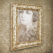 Картины и панно handmade. Livemaster - original item The picture is Gone with the time (in a frame, decor for the interior). Handmade.