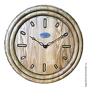 Watch handmade. Livemaster - original item A wall clock. Ash. Time.. Handmade.