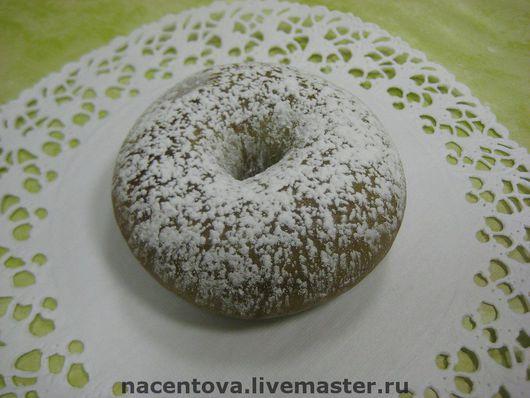 """Мыло ручной работы. Ярмарка Мастеров - ручная работа. Купить Мыло """"Пончик"""". Handmade. Мыльная основа, какао"""