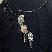 "Украшения handmade. Livemaster - original item Metal necklace with seashells ""Trois"". Handmade."
