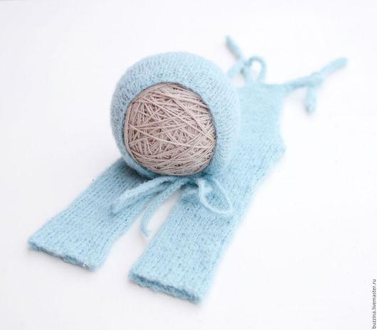Для новорожденных, ручной работы. Ярмарка Мастеров - ручная работа. Купить Комбинезон + шапочка для фотосессии новорожден комплект для фотосессии. Handmade.