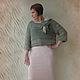 Кофты и свитера ручной работы. Ярмарка Мастеров - ручная работа. Купить Вязаный джемпер цвета полыни. Handmade. Мятный