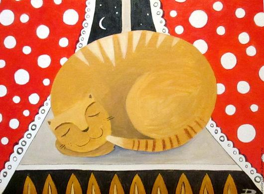 """Животные ручной работы. Ярмарка Мастеров - ручная работа. Купить Картина маслом """"Баю-баюшки-баю"""". Handmade. Комбинированный"""