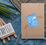 Открытки handmade. Livemaster - original item Postcard-picture with the item in Batik. Handmade.