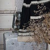 """Одежда ручной работы. Ярмарка Мастеров - ручная работа Юбка""""падший Ангел""""(бохо,лён). Handmade."""