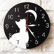 """Для дома и интерьера ручной работы. Ярмарка Мастеров - ручная работа Часы настенные """"Влюбленный кот"""", часы ручной работы, настенные часы. Handmade."""