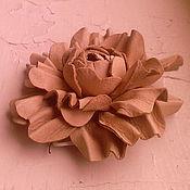 Цветы и флористика ручной работы. Ярмарка Мастеров - ручная работа Кожаный цветок ручной работы. Handmade.