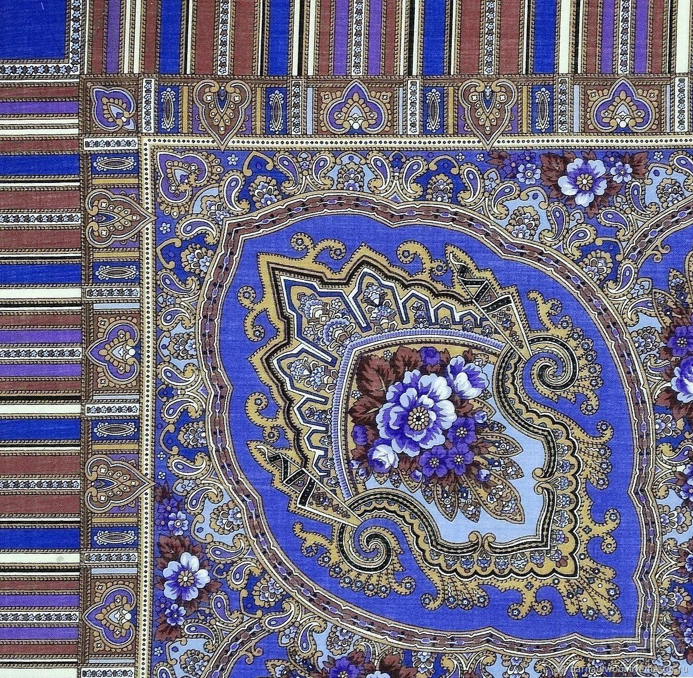 Лоскут. Павловопосадский платок №852, Шерсть, Барнаул,  Фото №1