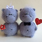 Куклы и игрушки handmade. Livemaster - original item Love the Hippo.. Handmade.