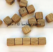 Материалы для творчества ручной работы. Ярмарка Мастеров - ручная работа Бусинки-кубики деревянные из дуба, ясеня 10 и 15мм. Handmade.