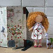 Для дома и интерьера ручной работы. Ярмарка Мастеров - ручная работа ВИШЕНКА Текстильная кукла. Handmade.