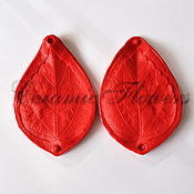 Материалы для творчества handmade. Livemaster - original item Silicone mold (Weiner) leaf, hibiscus,bilateral. Handmade.