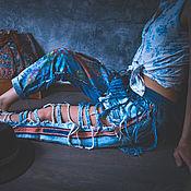 Одежда ручной работы. Ярмарка Мастеров - ручная работа Авторские джинсы. Handmade.