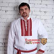 Русский стиль handmade. Livemaster - original item Men`s shirt