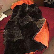 Для дома и интерьера ручной работы. Ярмарка Мастеров - ручная работа Покрывало из меха кролика. Handmade.