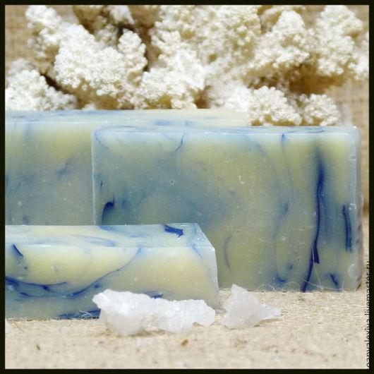 """Мыло ручной работы. Ярмарка Мастеров - ручная работа. Купить Натуральное мыло ручной работы """"Морское"""". Handmade. Мятный"""