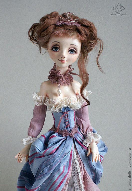 Коллекционные куклы ручной работы. Ярмарка Мастеров - ручная работа. Купить Утро. Handmade. Бледно-сиреневый, подарок, шёлк