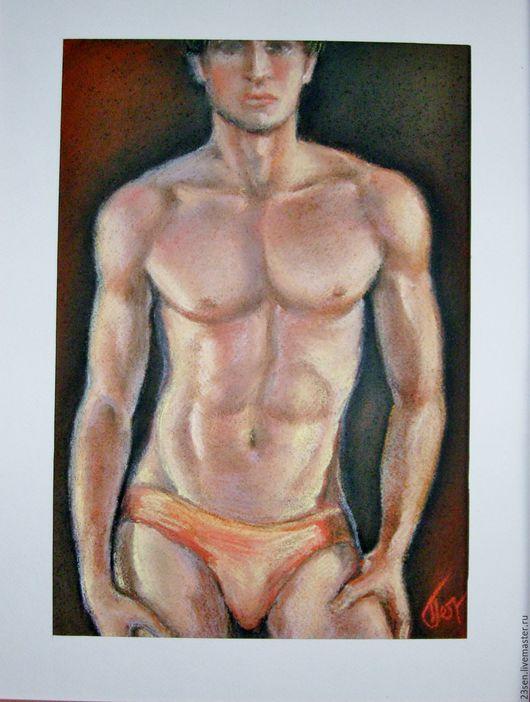 """Ню ручной работы. Ярмарка Мастеров - ручная работа. Купить картина """"Горячий парень"""". Handmade. Разноцветный, спортивный, совершенство"""