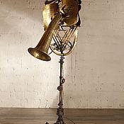 """Для дома и интерьера ручной работы. Ярмарка Мастеров - ручная работа """"ХАВА НАГИЛА"""" Светильник из духового инструмента. Handmade."""