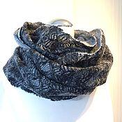 """Аксессуары handmade. Livemaster - original item Снуд валяный шарф """"Кружево"""" снуд шерстяной мериносовый шарф. Handmade."""