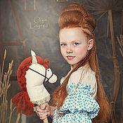 Куклы и игрушки ручной работы. Ярмарка Мастеров - ручная работа Лошадка на палочке. Handmade.