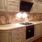 Дизайн и реклама ручной работы. Ярмарка Мастеров - ручная работа Роспись кухонного фартука. Handmade.